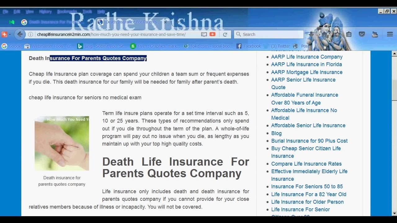 Mortgage Life Insurance Quote Death Insurance For Parents Quotes Company  Death Life Insurance