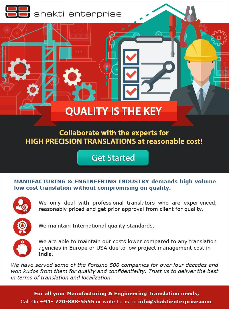 Technicaltranslationservice For Manufacturing And Engineering Industry From Shakti Enterprise Langu Manufacturing Engineering Domain Knowledge Translation