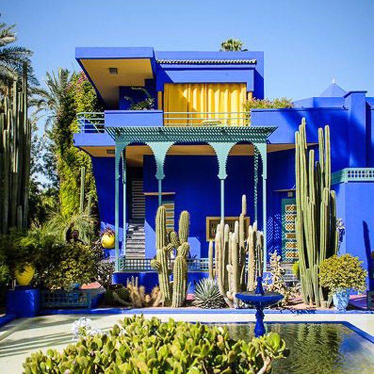 Jardin Yves Saint Laurent Marrakech: Yves Saint Laurent's Majorelle Garden In Marrakech