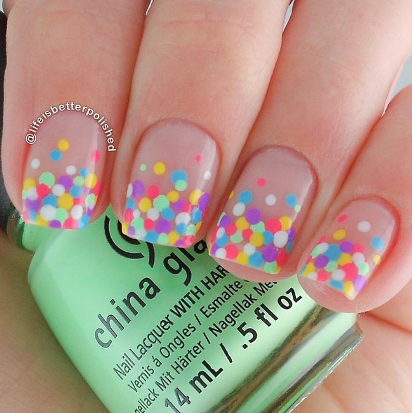 Colors Manicura De Uñas Uñas Confeti Y Uñas De Gel
