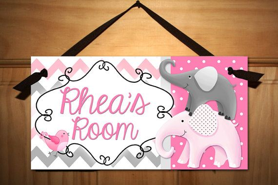 Grey and Pink Creatures Big and Small Girls Bedroom Baby Nursery