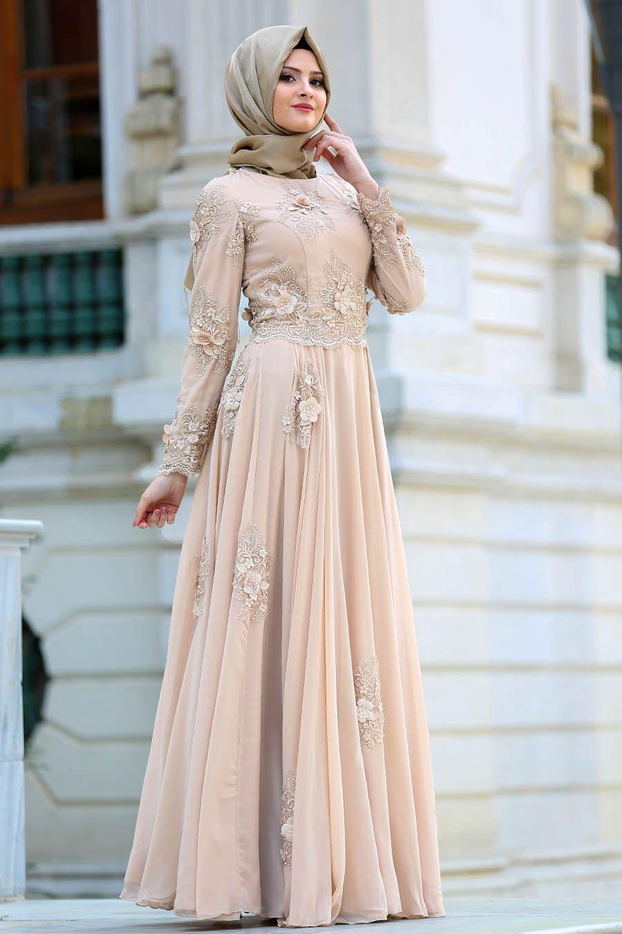 572832bb69f55 2018/2019 Yeni Sezon Özel Tasarım Abiye Koleksiyonu - Tesettürlü Abiye  Elbise - Üç Boyut