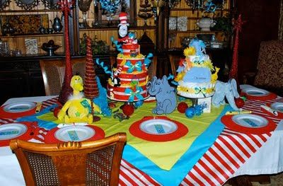 Seuss Shower   Love The Tablewear!