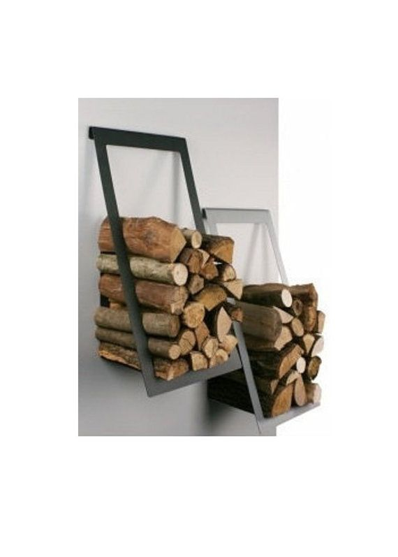 Wall Mounted Storage Firewood Holder Log Winter Gift Hearth Rack Fire Place Woo