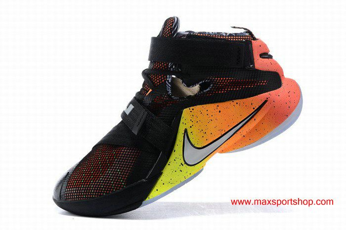official photos a8630 f6685 Nike LeBron Zoom Soldier 9 Rise Black Orange Basketball Shoes | Nike ...