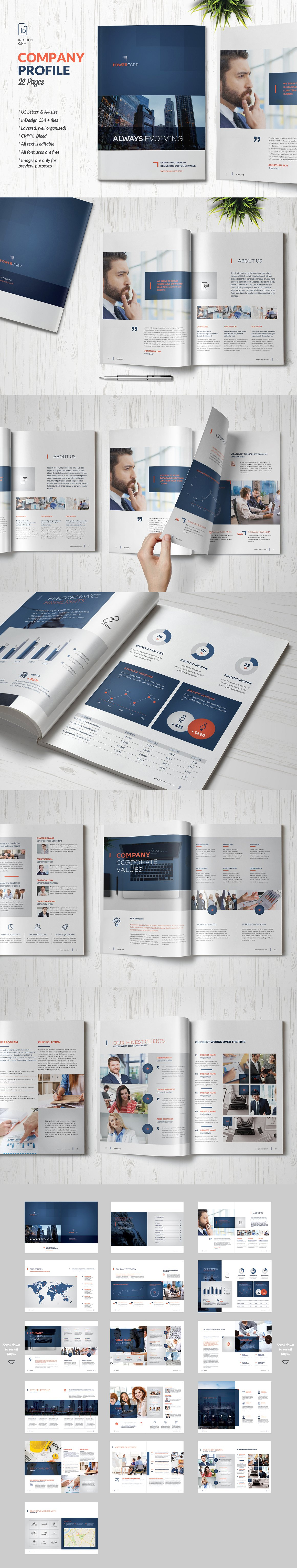 Company Profile Business Brochure Template INDD, PDF