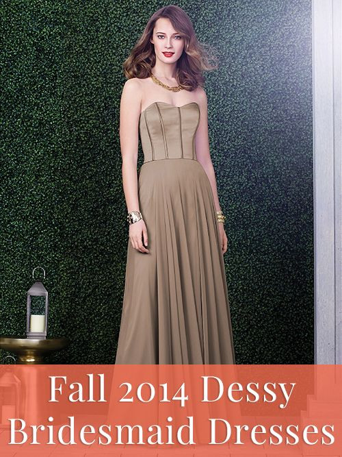 Dessy Collection bridesmaid dresses for fall 2014 >>