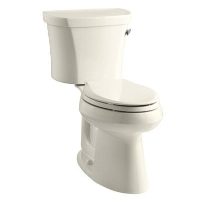 Kohler Highline Comfort Height Two-Piece Elongated 1.28 GPF Toilet with Class Five Flush Technology, Right-Hand Trip Lever, Insuliner Tank Liner an...