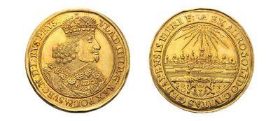 Peter Rapp AG - Internationale Briefmarkenauktionen - Spitzenergebnisse 2014 /     Danzig Polen. Wladislav IV., 1633–1648. 2 Dukaten 1647. Verkaufspreis*: CHF 35'380.–