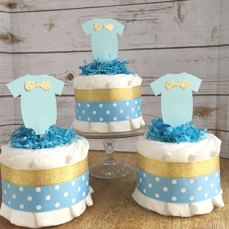 Little man boy baby diaper cake oh boy baby shower decor