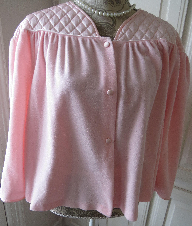 Vintage Bed Jacket Pink Vanity Fair Size Medium