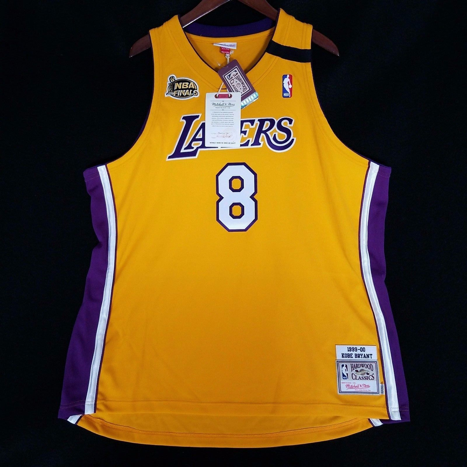 new style 357a1 ed119 100% Authentic Kobe Bryant Mitchell Ness 2000 Finals Lakers ...