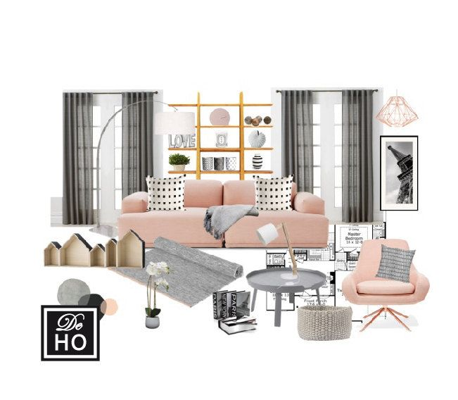 Complete 1 Room Design With Scaled Plan Moodboard And Shopping List Easy Affordable By DeHo On Etsy Interior Services