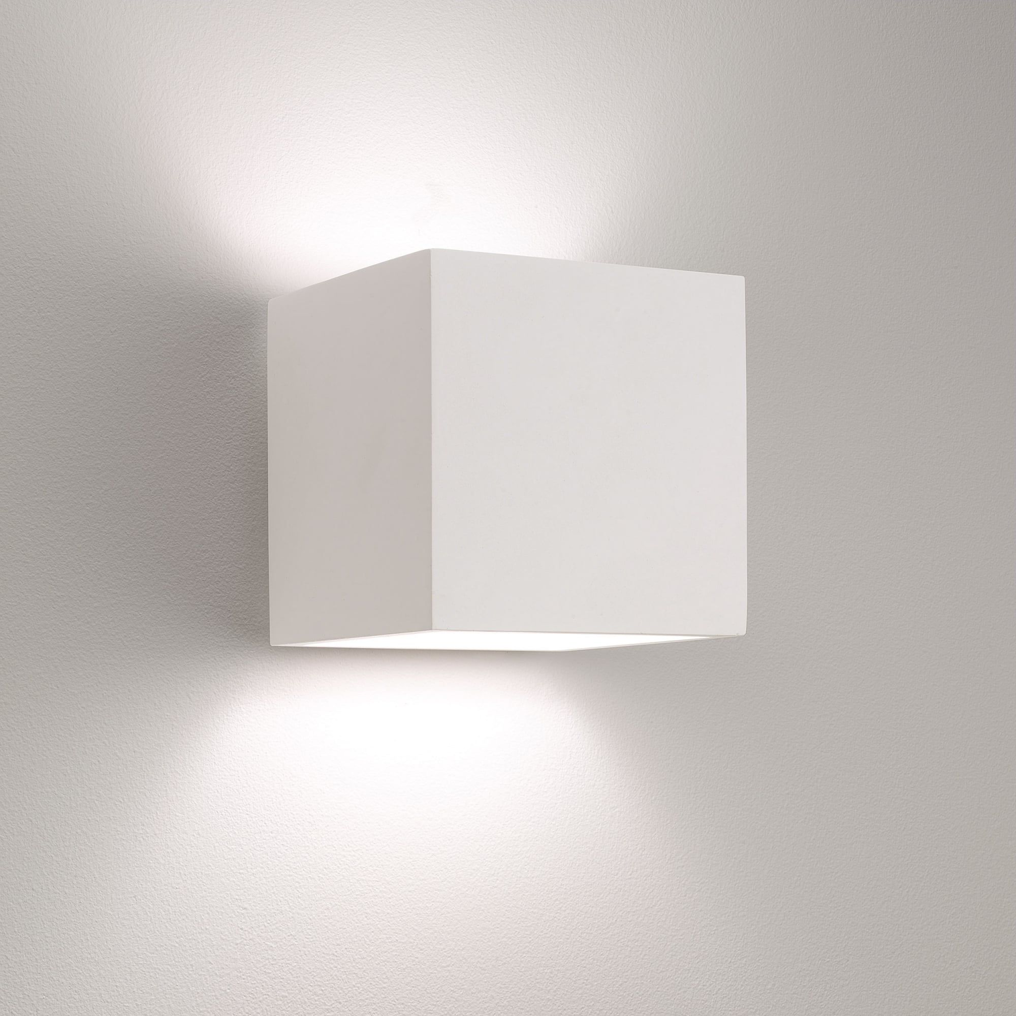 Deckenfluter Wandmontage Astro Lights Pienza 165 E27 White Plaster Wall Light Light