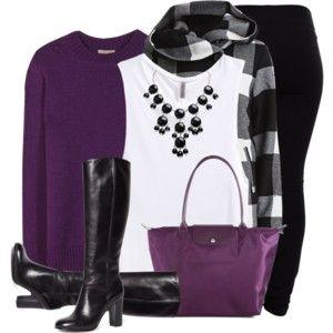 Purple, Black & White