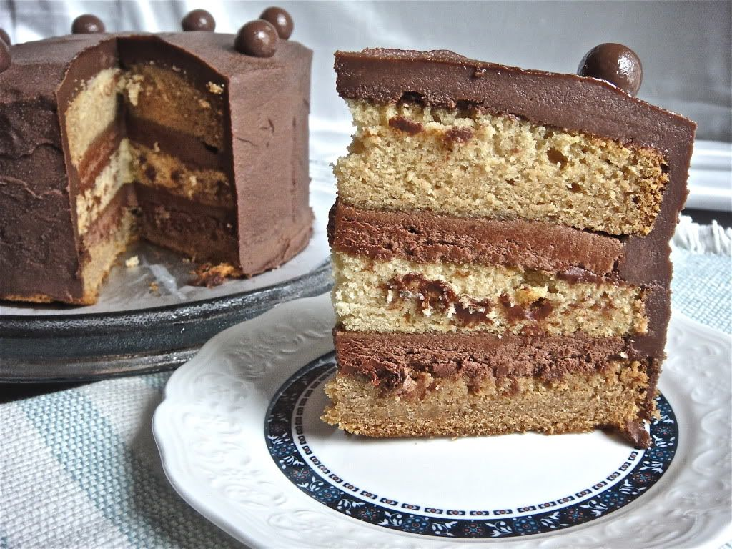 Crumbs and cookies malted milk ball cake malted milk