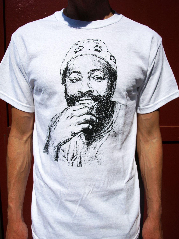 Marvin gaye tshirt mens new hip hop clothing era by pistache323 £13 95