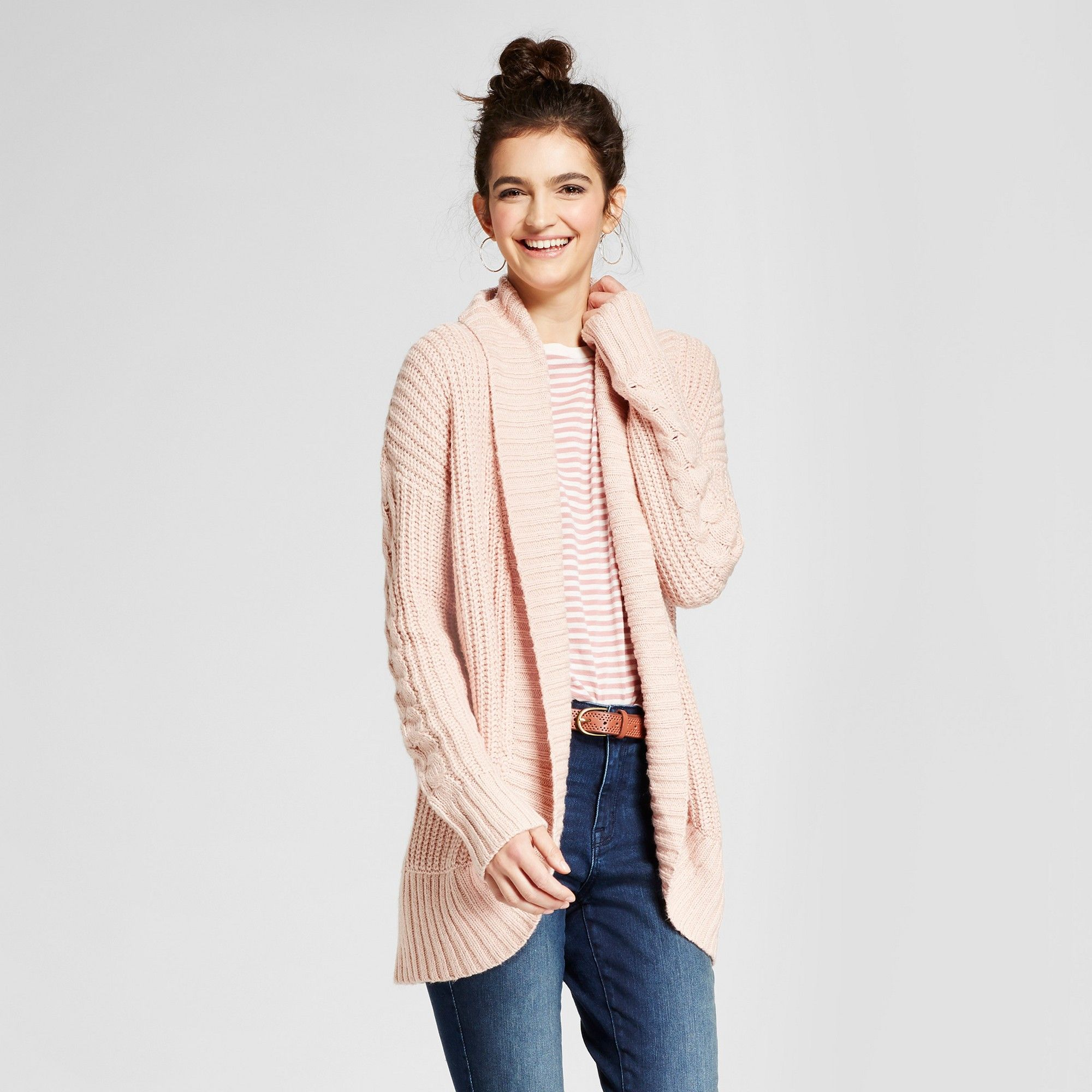 Women's Chunky Cocoon Cardigan - Mossimo Supply Co. Pink S | Products