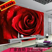Rosa Vermelha Romantica Mural 3d Papel De Parede Papeis De Parede