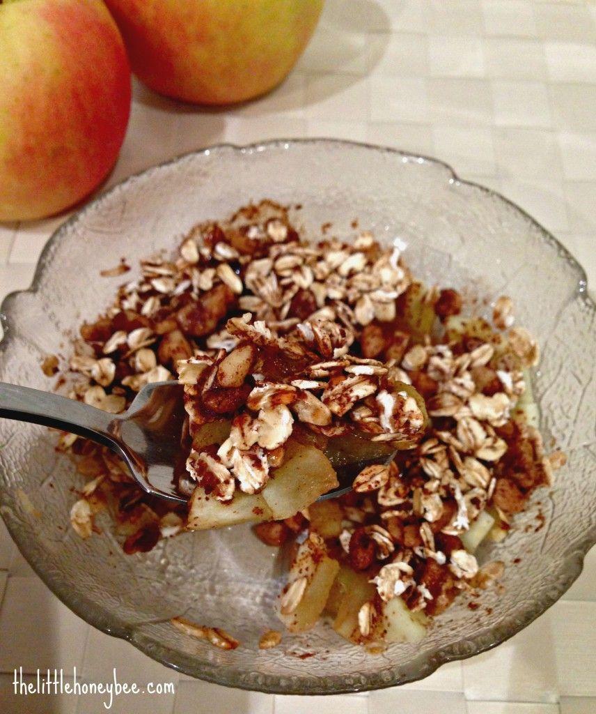 3 Minute Apple Crisp {for One} {vegan & Gluten Free
