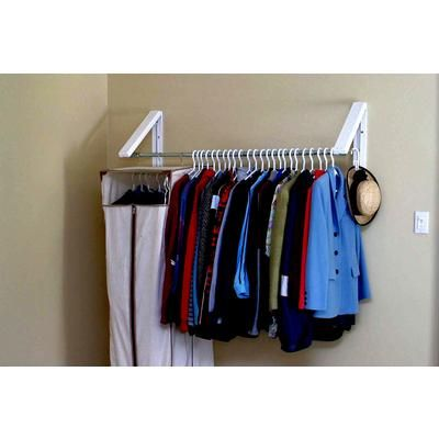 Instahanger Quikcloset Clothing Storage System 3 Feet To 5 Feet Ah3x12 Home Depot Canada Closet Clothes Storage Clothes Storage Systems Portable Closet
