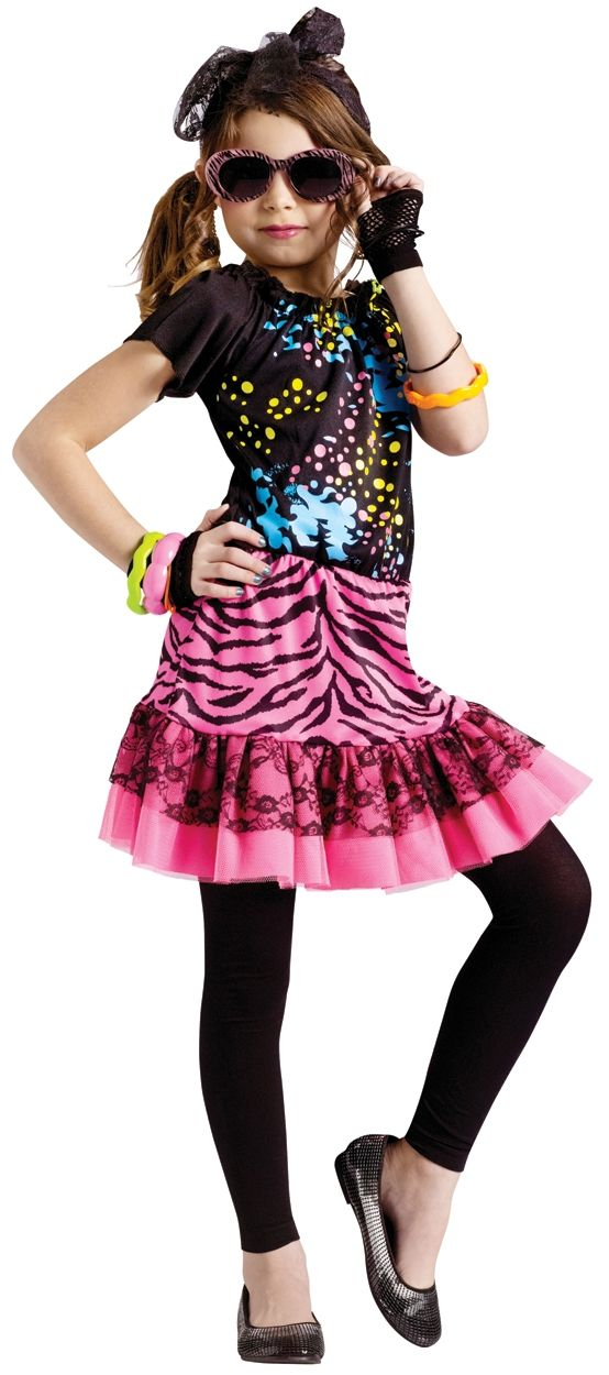 80s style images | 80s Pop Party Costume for Kids | Girls 80s Dress ...