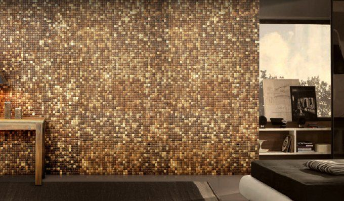 Natural Wall Tiles Made From Recycled Coconut Chips Stone Wall
