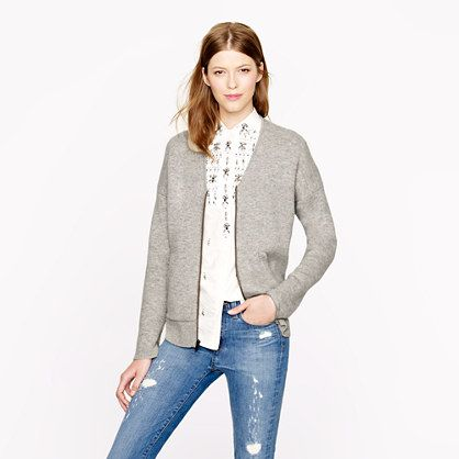 Collection bonded cashmere zip sweater-jacket Secret Sale: 25% off ...