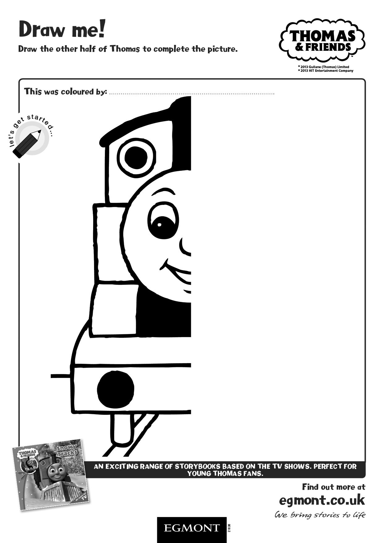 Enjoy This Thomas And Friends Activity Sheet For Children