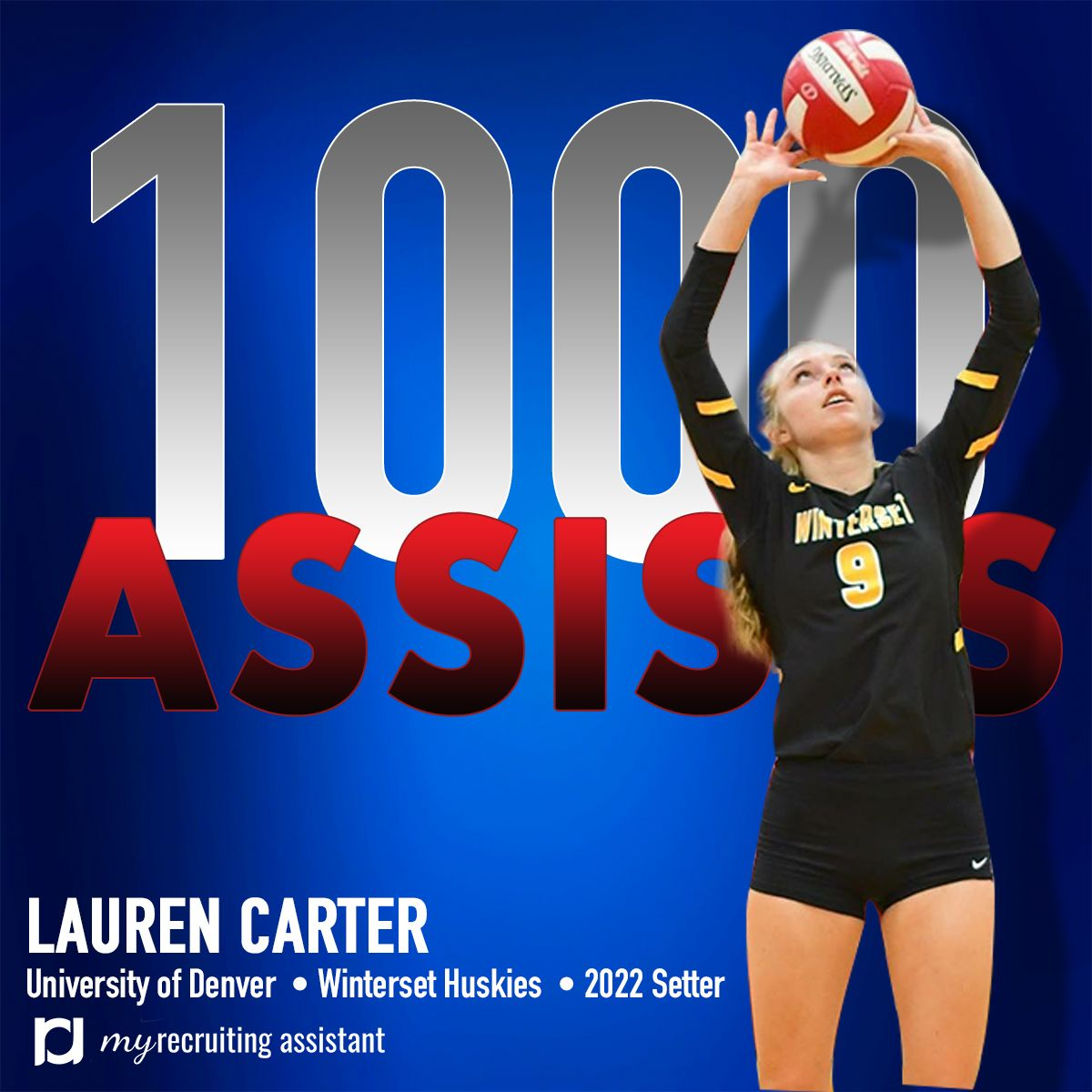 Lauren Carter Class Of 2022 Setter Committed To The University Of Denver University Of Denver Lauren Carter Recruitment