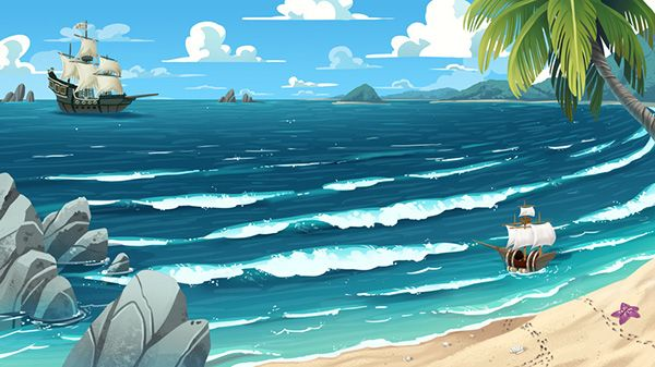 Background Paintings For 3 Cisd On Behance Animation Background Landscape Drawings Landscape Background
