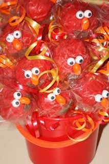 For Aleahs 2nd Birthday Party we are having Elmo theme... what kind of food (like dinner foods... not cake/cupcakes) would be good with a Elmo theme?...