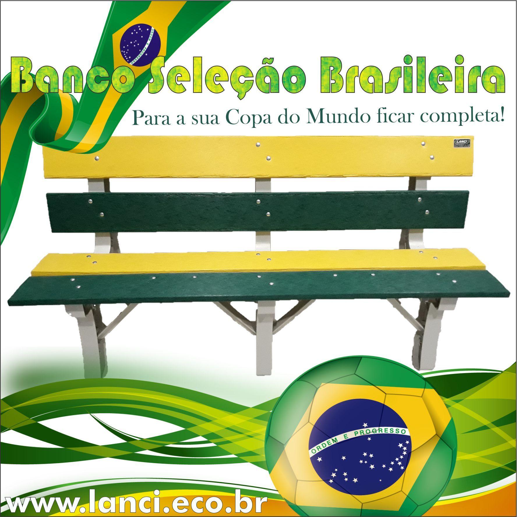 Banco De Jardim Colorido Em Madeira Plastica Para Torcer Pela