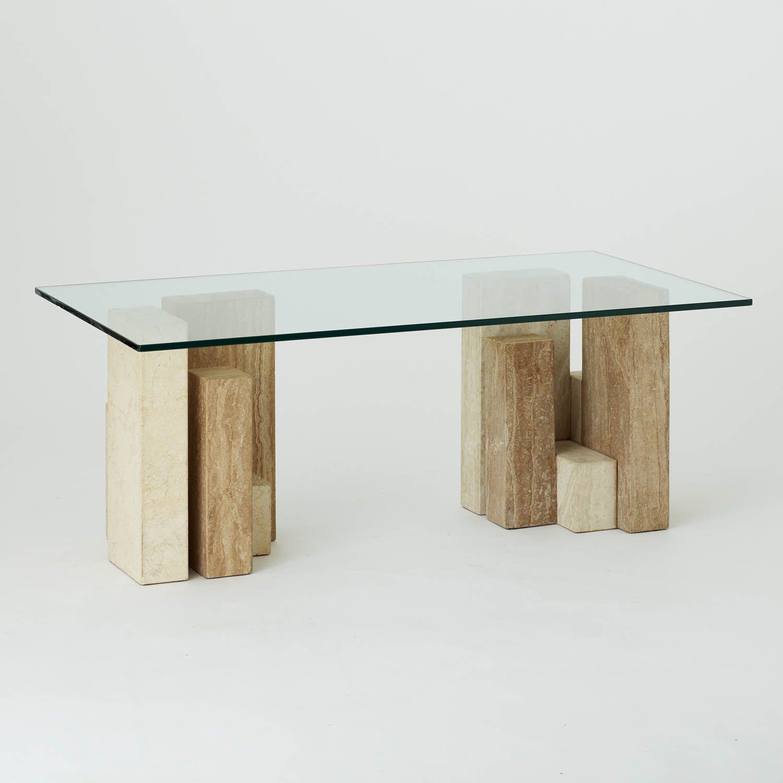 Vintage Glass And Marble Stone Block Based Coffee Table Au Bespoke Coffee Table Marble Coffee Table Stone Blocks [ 1500 x 1500 Pixel ]