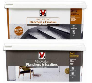 peindre un escalier en bois avec la peinture r novation v33. Black Bedroom Furniture Sets. Home Design Ideas