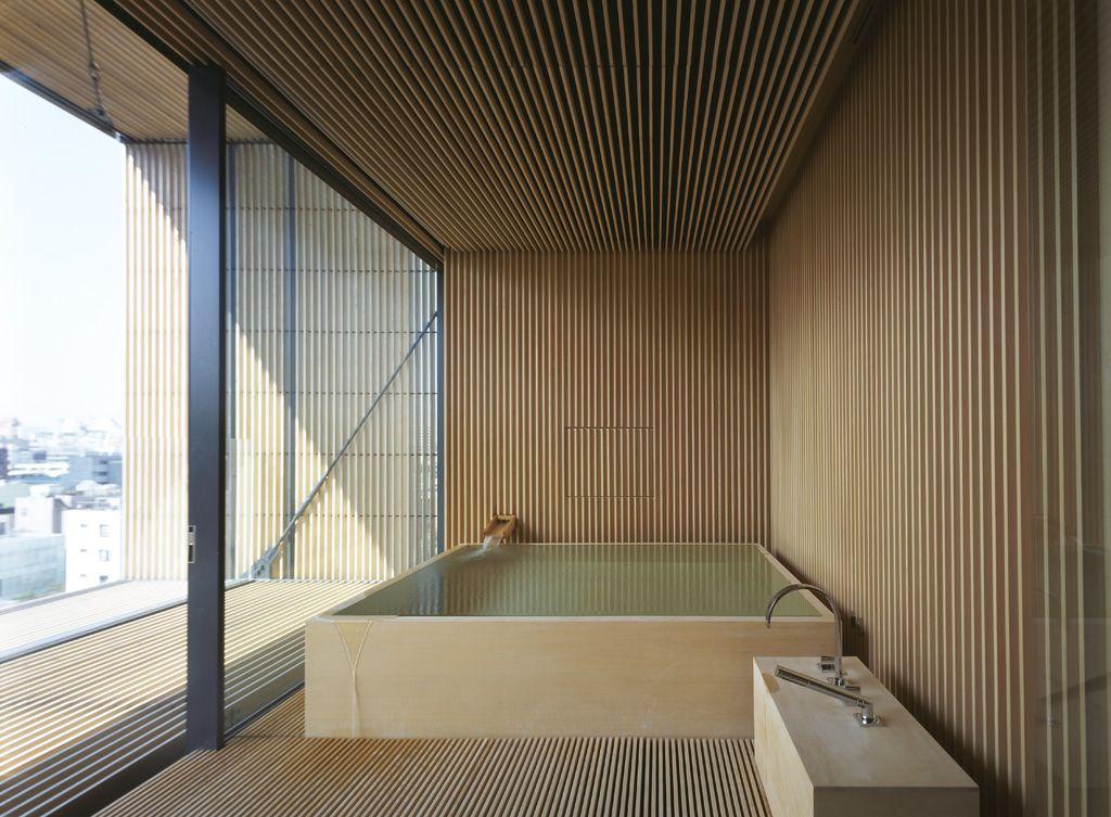 Bathroom in wood berg house tokyo kengo kuma ideas - Architektur tokyo ...