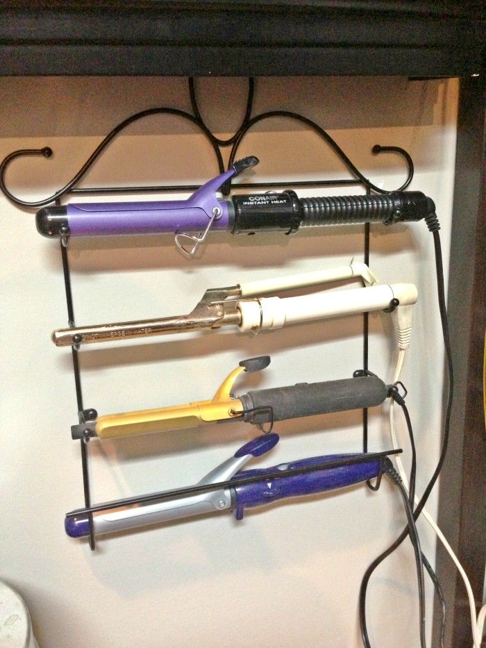 16 Clever Ways To Organize Hair Styling Tools Curling Iron Storage Hair Tool Storage Iron Storage