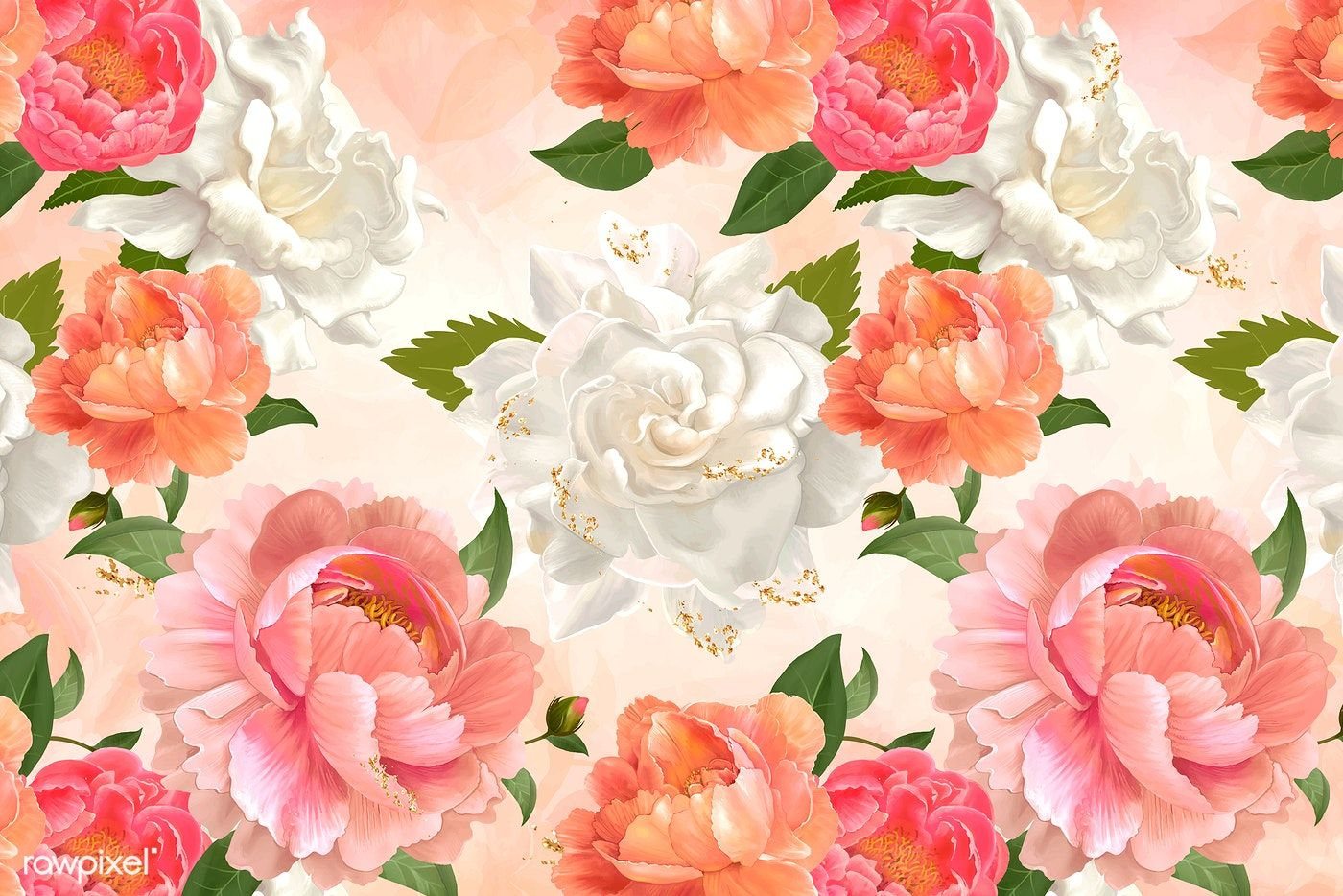 Beautiful Floral Background Design Vector Free Image By Rawpixel