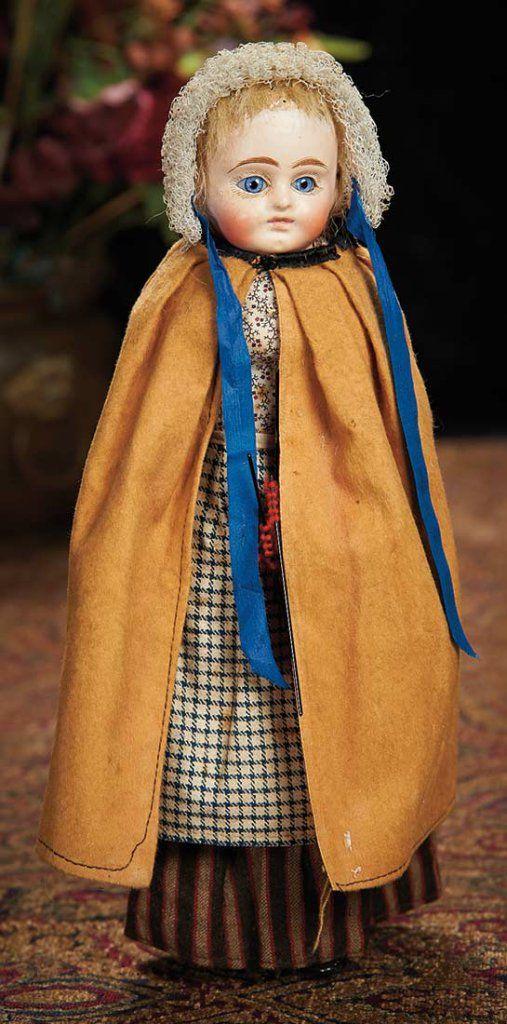 German Paper Mache Child in Original Costume.