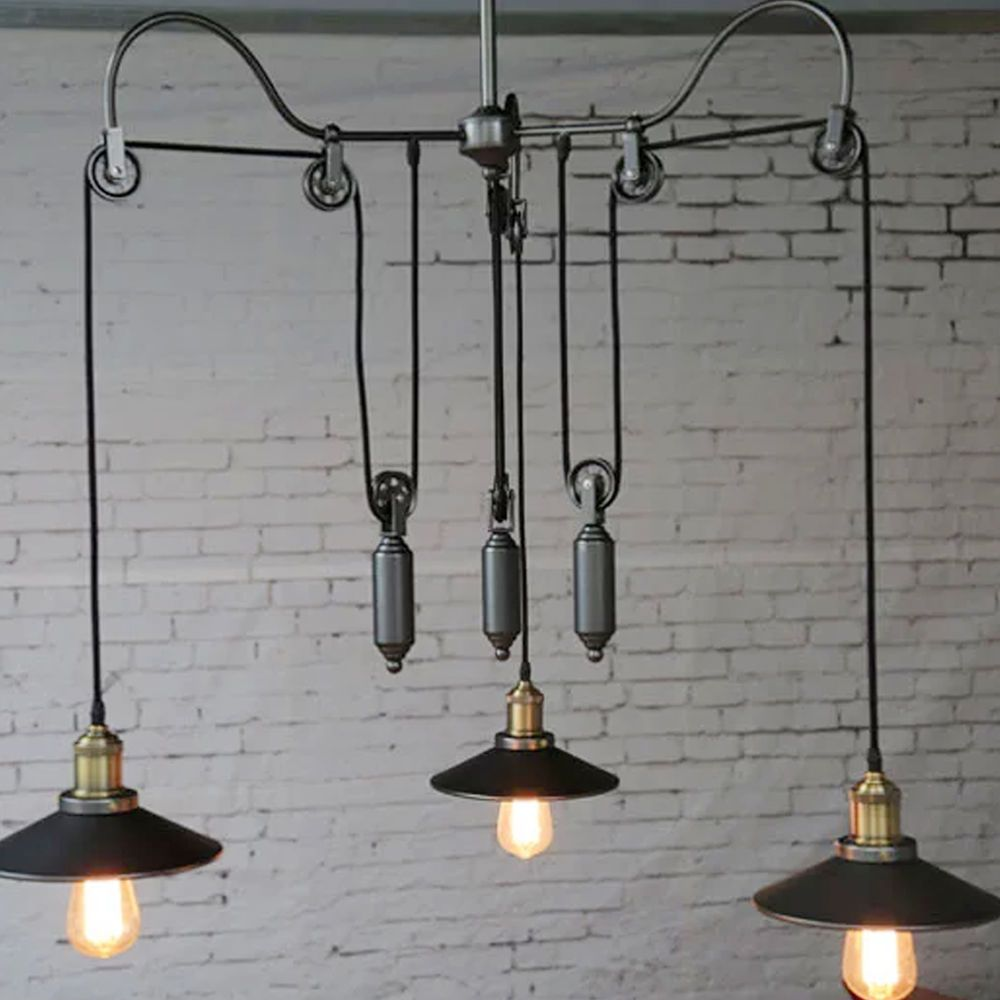 Vintage edison industrial chandelier pendant lights adjustable vintage edison industrial pulley pendant lights adjustable wire retractable lamp in home furniture diy lighting ceiling lights chandeliers arubaitofo Image collections
