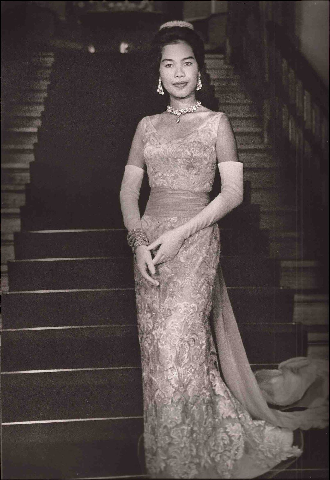 Queen Sikirit of Thailand in Balmain
