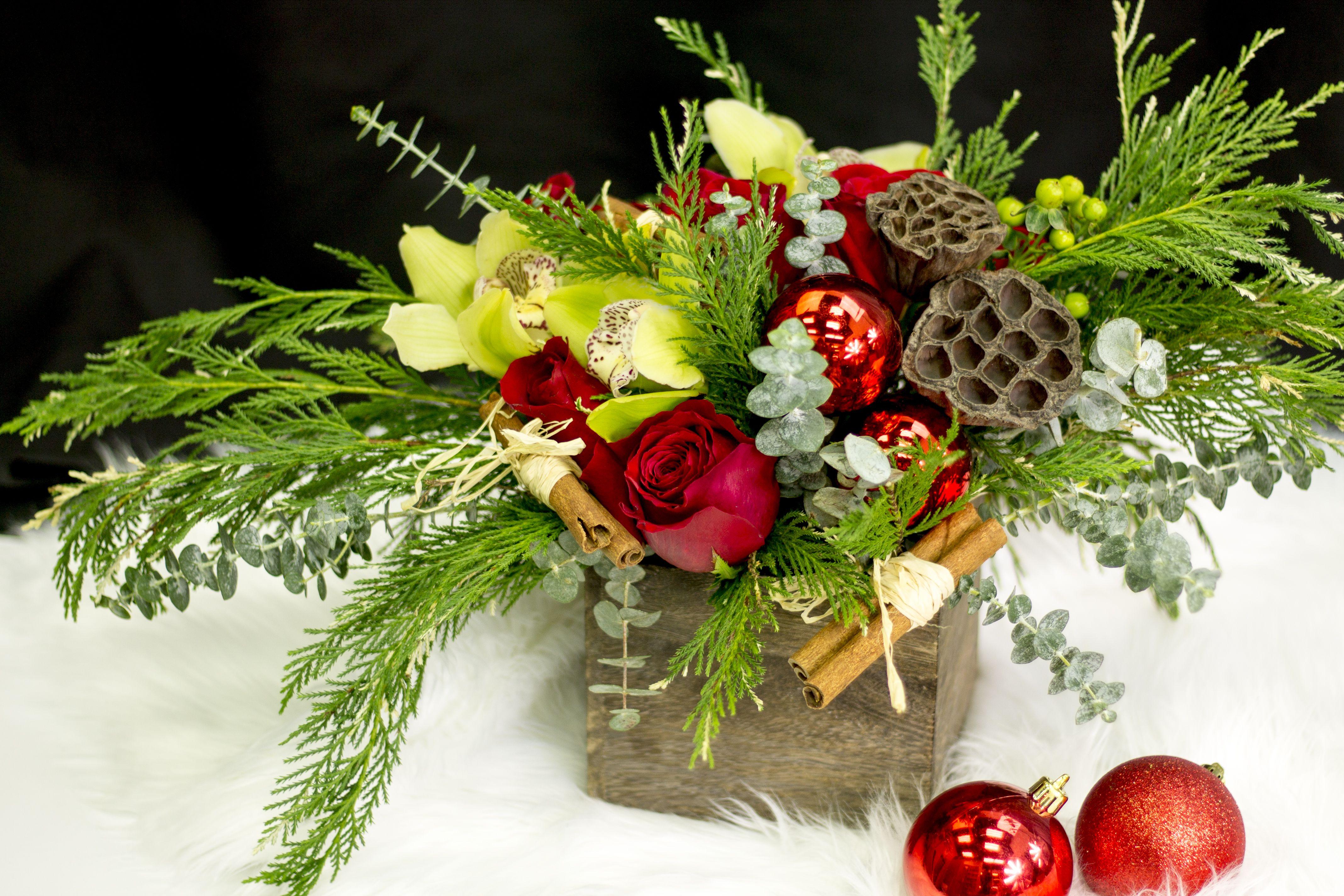 Christmas flower arrangement christmas flower