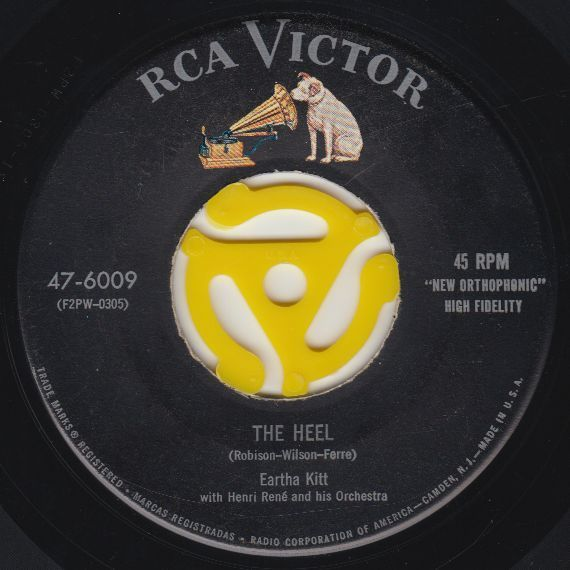 Eartha Kitt The Heel / My Heart's Delight 1955 RCA 47-6009 Mono VG #1950sTraditionalVocal