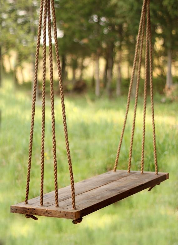 Porch Swing Bench Outdoor Seating Rope Swing Tree Swing In 2020 Porch Swing Rope Swing Wooden Swings
