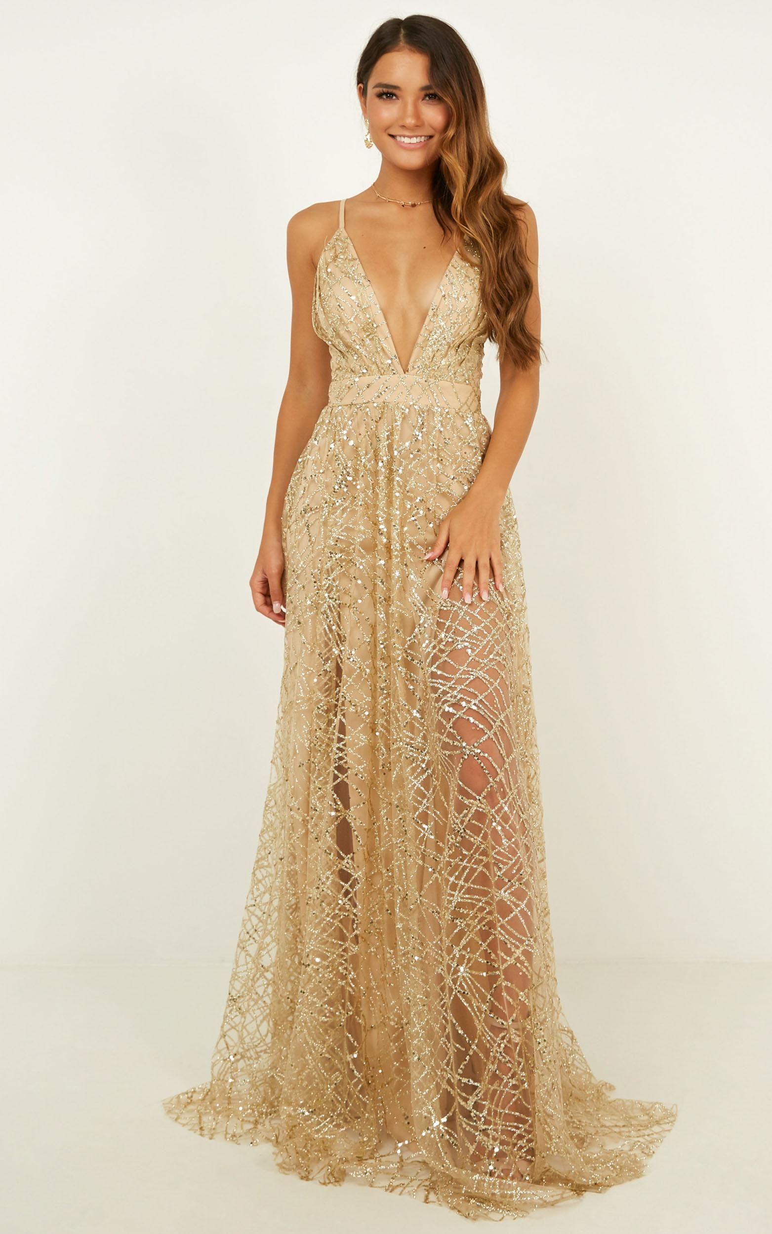 Eternal Sunshine Maxi Dress In Gold Sequin Tulle Showpo Dresses Maxi Dress Dusty Blue Bridesmaid Dresses [ 2500 x 1563 Pixel ]