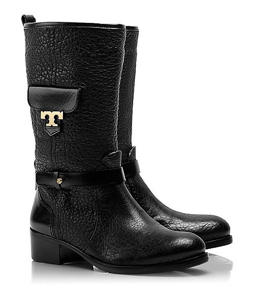 """Tory Burch """"Leona"""" boots... A great biker-inspired style for every day.  #fall2013"""