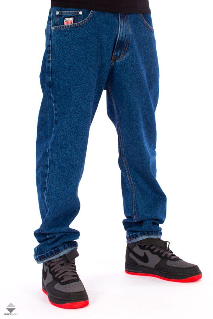 Spodnie Prosto Flavour Baggy Niebieskie Mens Outfits Kr3w Street Wear