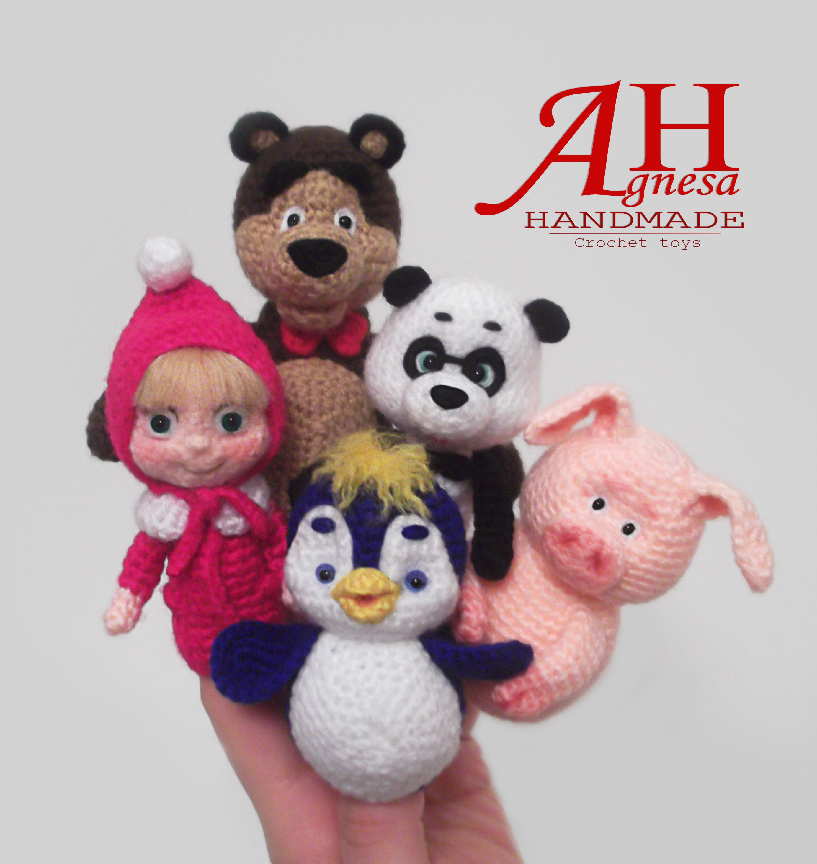Masha and The Bear finger puppets | amiguriland | Pinterest ...
