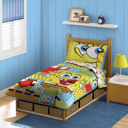 Nickelodeon Spongebob 4 Piece Toddler Bedding Set With Images