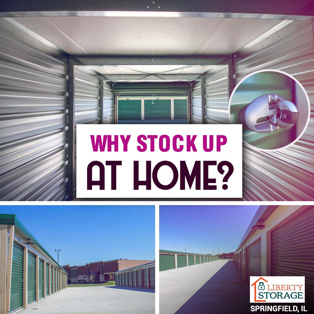 Why stock up at home? Rent a storage unit and stock up